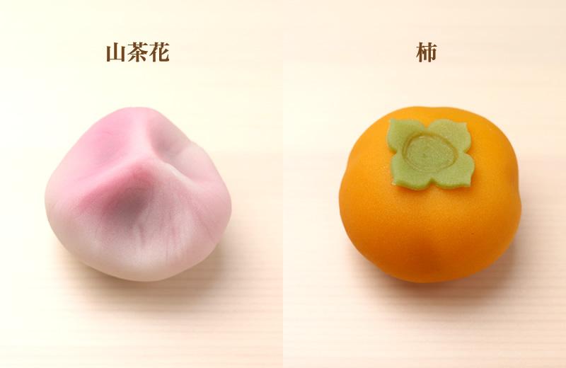 山茶花 柿